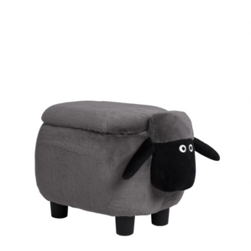 Детска табуретка с ракла - сива овца