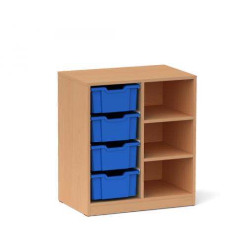 Двоен шкаф с 4 средни контейнера - 70х45 H=79см