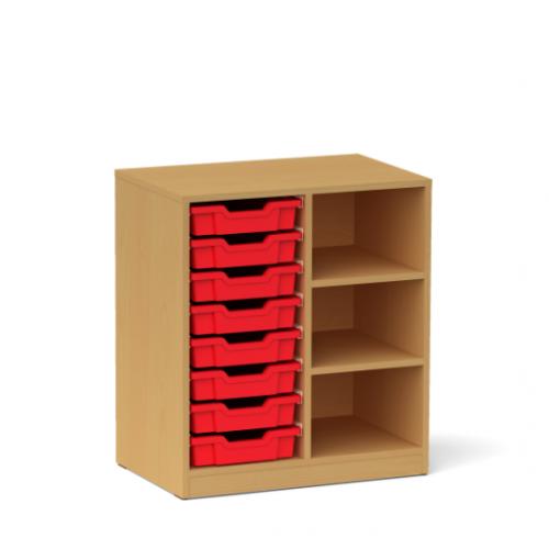 Двоен шкаф с 8 малки контейнера - 70х45 H=79см