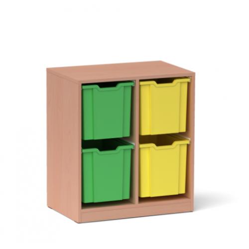 Двоен шкаф с 4 големи контейнера - 70х45 H=79см
