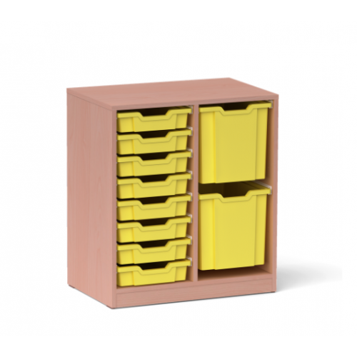 Двоен шкаф с 2 големи и 8 малки контейнера - 70х45 H=79см