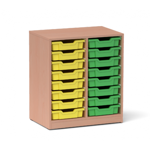 Двоен шкаф с 16 малки контейнера - 70х45 H=79см
