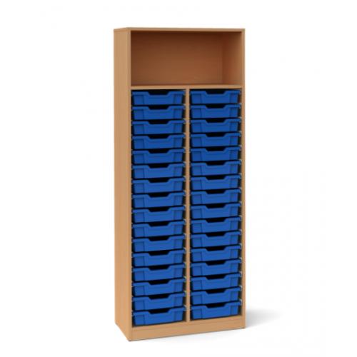 Двоен шкаф с 32 малки контейнера - 70х45 H=180см