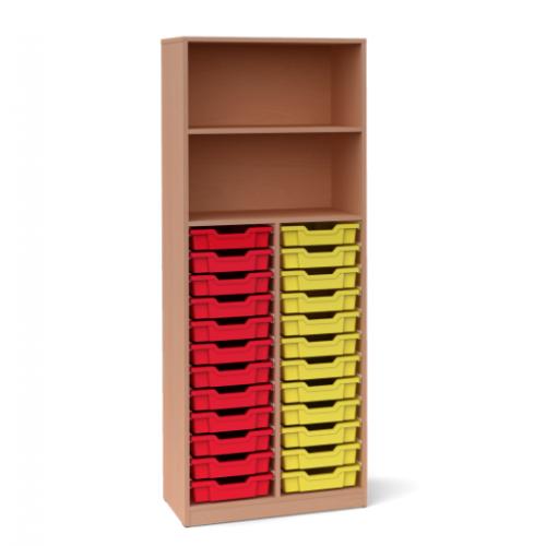 Двоен шкаф с 24 малки контейнера - 70х45 H=180см