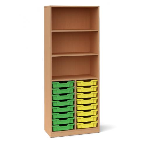 Двоен шкаф с 16 малки контейнера - 70х45 H=180см