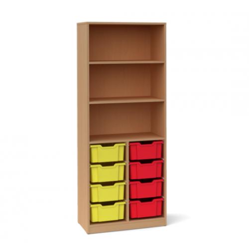 Двоен шкаф с 8 средни контейнера - 70х45 H=180см