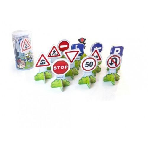 Комплект от 12бр. пътни знаци от картон
