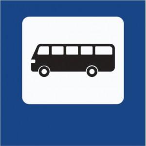 """Пътен знак със стойка - Д24 - """"Автобусна спирка"""""""