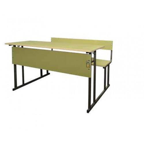 Двуместен ученически чин - Тео с цяла седалка - 118х45 - Н=76