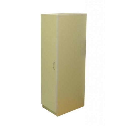 Гардероб еднокрилен 3 рафта и плътна врата - 30х40 - Н=120