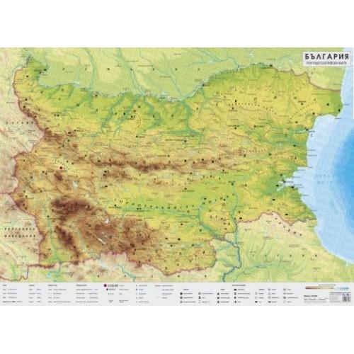 Природогеографска карта на България - 1:400 000 - 140х100см