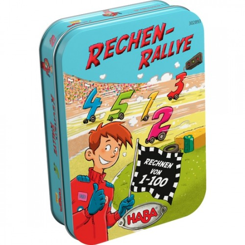 """Игра в метална кутия  """"Математическо рали""""  1-100 - HABA - 302893 - (от 6 до 99 год.)"""