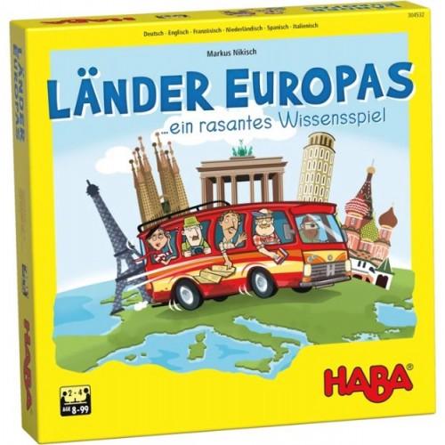 """Настолна игра """"Туристи в Европа"""" - HABA - 304532 (от 8 до 99 год.)"""