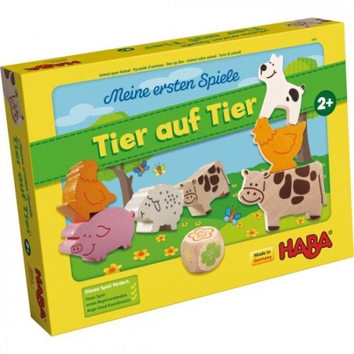 """Образователна игра """"Животно върху животно"""" - HABA - 4680/4778 (за 2+ год.)"""