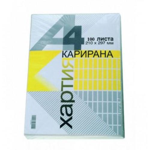 Карирана хартия - А4, вестник, 100 л/пакет