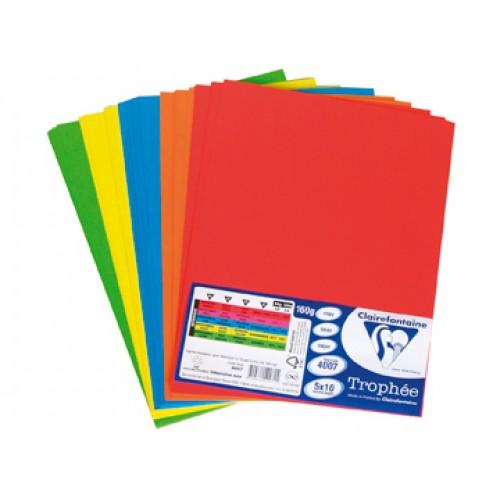 Комплект от микс картони -  наситени цветове -  А4 - 50листа - 5 цвята