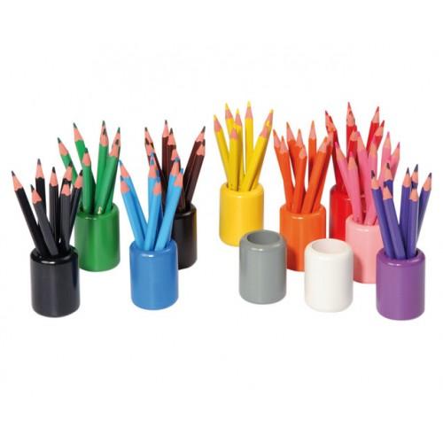 Комплект от 11 бр. цветни поставки за моливи