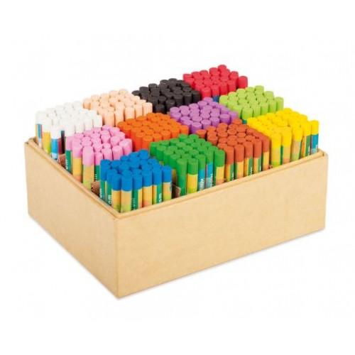 Комплект от 300 бр. маслени пастела - 12 цвята