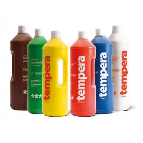 Комплект от 6 броя темперни бои по 1 литър