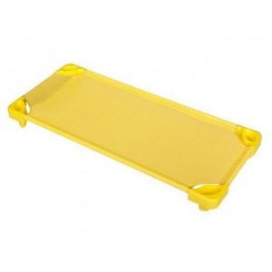 Стифиращо пластмасово детско легло за яслени групи, детска градина и занимални - Жълто - 133 х 57см, H-15см