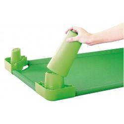 Комплект от 4бр. крака за стифиращо легло - зелено - H - 11см