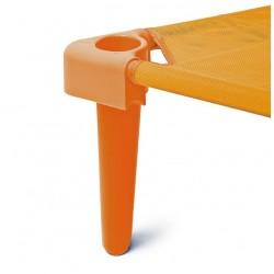 Комплект от 4бр. крака за стифиращо легло - оранжево - H - 11см