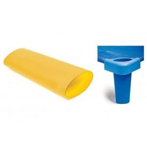 Комплект от 4бр. крака за стифиращо легло - жълто - H - 11см
