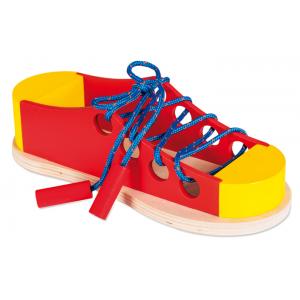 Дървена обувка за навързване на връзките - 28х9х9см