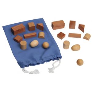 Монтесори чантичка с 9 геометрични фигури