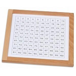 Монтесори контролна дъска до 100 - 21.5 х 21.5см