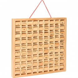 Дървено табло за умножение - 28 х 28 х 2.6см