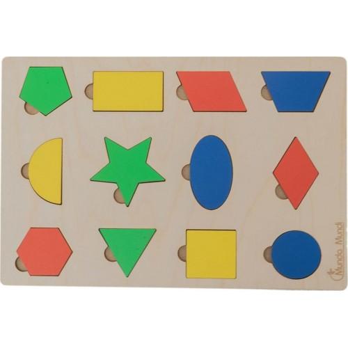 "Монтесори пъзел ""Геометрични форми"" - 29 х 20см"