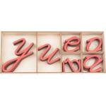 Монтесори българска азбука (кирилица) - Ръкописни букви