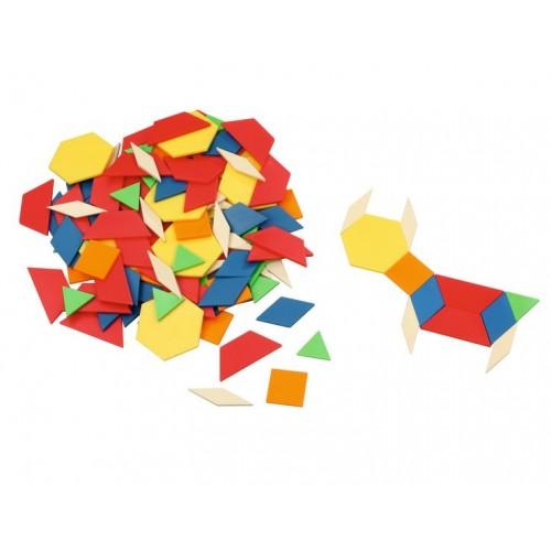 Мозайка в торбичка, геометрични фигури - 250 части