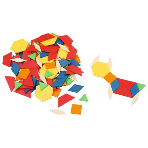 Мозайка с геометрични фигури - дървени - 250 части