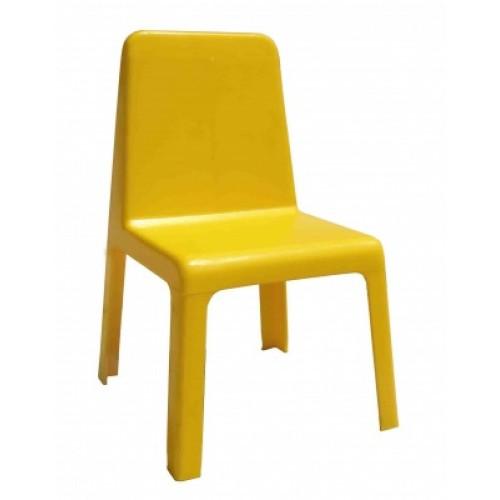 Столче детско пластмаса жълто - H-30см