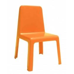 Столче детско пластмаса оранжево - H-30см