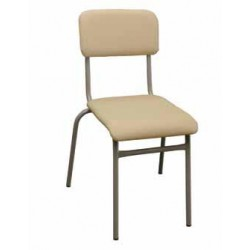 """Ученически тапициран стол с  кожа - """"Андон"""" - Н=42см"""