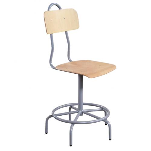 Въртящ работен стол - Н=40/53см