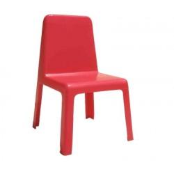 Пластмасово детско столче - червено, H-30см