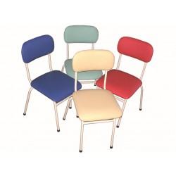 Столче детско тапицирано с кожа Н=30см