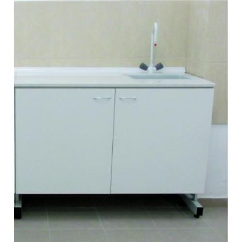 Лабораторна маса с мивка - 120х60 Н=90 с химикоустойчив плот