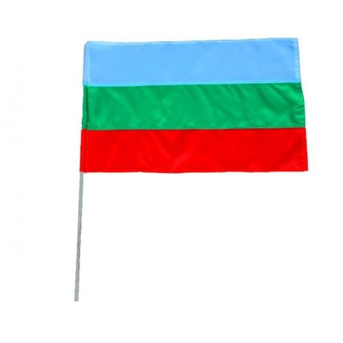 Българско знаме / трикольор с пръчица - размери - 50/83 - нетъкан текстил