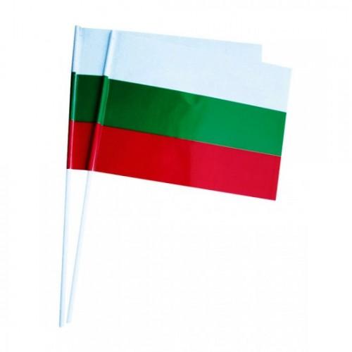 Знаме - трикольор - хартиено знаменце - h-45см, знаме - 16х22