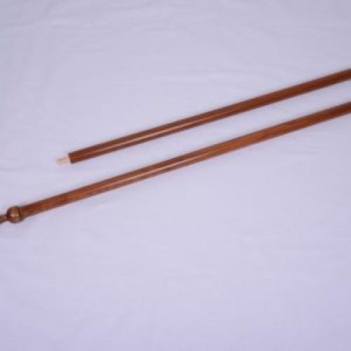 Стругован дървен прът с пика - Н=210см