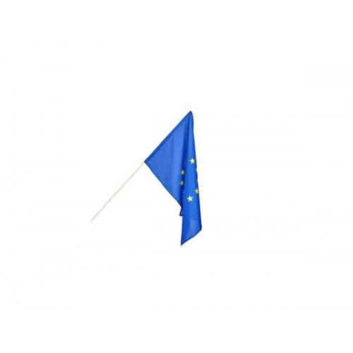 Знаме на ЕС с пръчка - НОСИМО - едностранен печат - 40х66